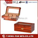 wholesale watch box, wooden and handcrafted watch box, custom logo, velvet watch box for 3 watches