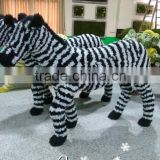 garden decoration artificial topiary frame animal artificial zebra with wire frame