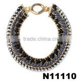 wholesale braided black rope chunky choker statement necklace in china chunky necklace