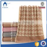 Quality Cotton Bath Decorative Jacquard Terry Beach Towel Spa Bathroom Brown