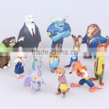 DIHAO (Hot Hot) Cute Zootopia Plastic Animal Set, Hot Animal Figure, OEM Plastic Miniature PVC Figures Factory