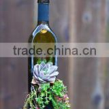 Recycle cutting glass wine bottle planters