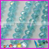 loose diamond rondelle/bicone faceted glass beads, jewelry crystal glass beads strands for bracelet