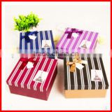 Commercial Style Various Color Solid Custom Paperboard Gift Packaging Box With Bow Wholesale