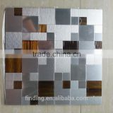 OEM ACP Mosaic decoration panel tightly spaced aluminium mosaic tile