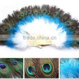 Elegant Belly Dance Ostrich Feather Fan , Feather Hand Fans for Dance