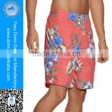 Popular printed polyester swimming shorts mens custom board shorts