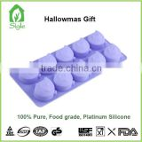 Free sample factory supply NEW design fashion pumpkin shaped custom silicone bake mold/silicone ice tray cube