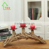 2016 creative hotselling wooden handmade bridge metal candle holder parts