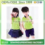 International polo shirt school uniform, factory custom primary school uniform, wholesale cheap kids school uniform