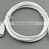 Black 4.5mm braided micro B usb cable 3.1 type c for Apple New Macbook 12inch Nokia N1 Tablet