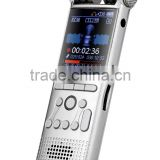 Silver Micro hidden professional voice recorder for important meeting