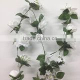 floral rose garland silk flower/leaves vines wedding decorative garland