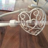 Cream Metal Shabby Chic Hold Backs