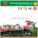 Child attractions fun fair equipment games of mini roller coaster sliding dragon for sale