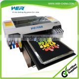 2016 top-selling DTG model A2 WER-D4880T desktop t-shirt printer, a2 dtg printer