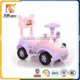 Lovely cartoon design new plastic toy car for kids slide car china factory