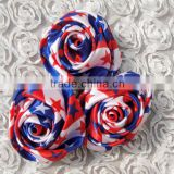 Direct manufacturer cheap item to sell ribbon satin rose flower artificial design for holiday/party/tutu dress supplies