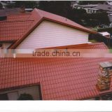 China factory price red heat resistant roofing sheets with spanish roof tiles for the gold garden