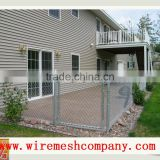 Chain link fence poles/Galvanized chain link fence price/dog proof chain link fence