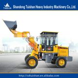 Chinese farm tractors garden equipment of 1000kg small wheel loader with front end loade hot sale