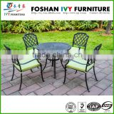 High quality stackable bronze cast aluminum arm chair