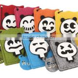 2017 wholesale 100% handmade quality Felt cartoon panda design Cloth Credit Card Holder made in China