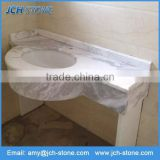 Chinese Antique White Cultured Marble Bathroom Vanity Top