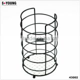 43002 Steel Wire Sink Basket Cutlery Holder Cooking Utensils Storage Kitchen Rack