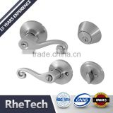 Security Tubular lever handle door lock and single cylinder deadbolt combo lockset
