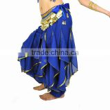 Indian belly dance Gold Trim Harem Pants Q0026-1