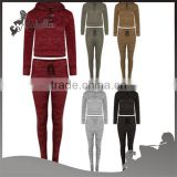 New womens cropped hooded sweater top tracksuit joggers pants lounge wear set