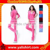 Newest arrival high quality soft comfort wholesale slim fit velour tracksuits for womens