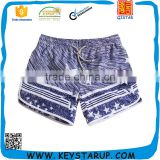 White Stars and Stripes Print Women Ready Made Board Shorts Latest Girls Sport Beachwear