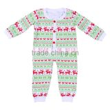 Top quality newborn christmas romper 100% cotton baby toddler kids onesie design bodysuit
