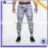 Custom yoga pants nylon sports wholesale print leggings for men