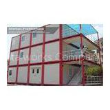 Three storey prefab container dormitory house with veranda and stairs , safe and durable