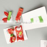 Christmas Girl Snap Clip Red Bow Toddler Hair Pin Festival Fashion Baby Gift