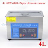4L 120W Digital display Medical and dental ultrasonic cleaner instruments for  Medical parts