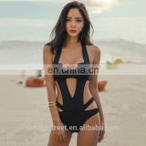 Alibaba China Wholesale One Piece Black hollow out Bikini Fashion sexy girl bikini picture