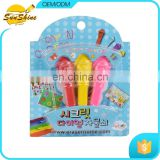 Hot sale kids toy,3 pieces Cartoon Crayon