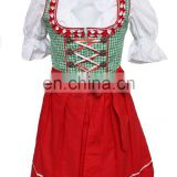 Bright 2016 Quality Mini Dirndl and Blouse with Apron,Traditional Bavarian Dirndls (Oktoberfest Dress)