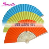 AF1407 Rainbow colored stocks paper fan