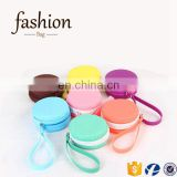 CR import export business ideas trendy small multi-color earphone bag lovely zipper round shape coin sorter purse