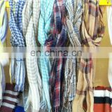lattice linen scarf 42s fresh comfortable natural scarf good quality