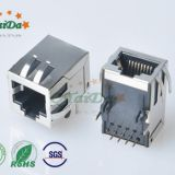 8 p8c RJ45 shield 90 degrees, no lamp socket with gigabit filter