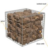 High Quality Galvanized Welding Gabion Retaining Wall, Gabion Mesh