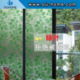 BT810 Greenery stained pvc self adhesive decorative window film