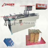 Semi-automatical Box 3D packing machine|Paper box cellophane over wrap machine|Cigarette box film wrapping machine