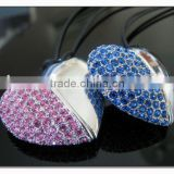 colorful crystal usb flash drive, antivirus crystal heart shape usb pendrive